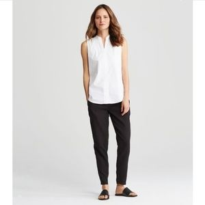 NWT Eileen Fisher Organic Cotton Taper Ankle Pant